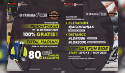 "Buat Pecinta Gowes, Yamaha Kaltim Gelar Virtual Bike ""Ride The Pride"""